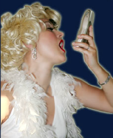 Image of Marilyn Monroe Singing Telegram