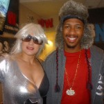 Gayle as Lady Gaga surprising Nick Cannon at 92.3 Now Radio