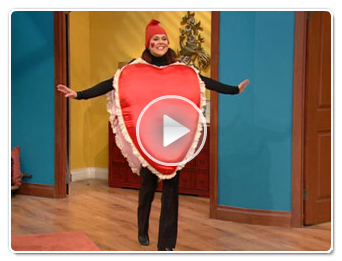 "The ""Singing Heart"" on the Racheal Ray show"